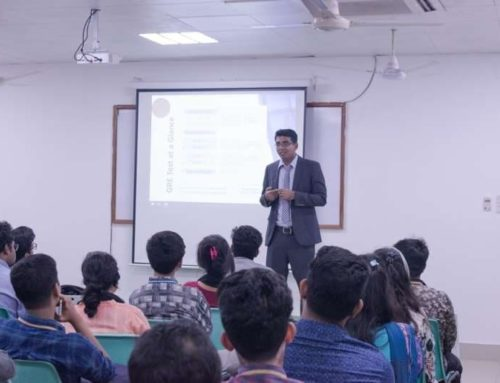 """IEEE AIUB Student Branch organized a seminar on-  """"Higher Study in North America with GRE and TOEFL"""""""